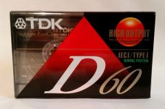 New TDK D 60 Type I High Output Normal Position Blank Audio Cassette Tape Media