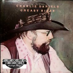 Vintage Charlie Daniels Uneasy Rider First Year Pressing 1976 US Epic E-34369 Vintage Vinyl LP Record Album