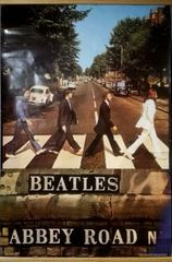 Vintage 1987 Beatles Abbey Road Poster Determined Productions