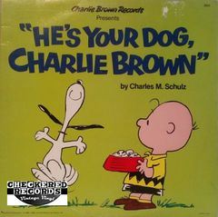 Vintage Charles M. Schulz He's Your Dog Charlie Brown Charlie 1978 Pressing 1978 US Brown Records 2603 Vintage Vinyl LP Record Album