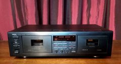 Vintage Yamaha Natural Sound KX-W362 Stereo Double Cassette Tape Deck Tested