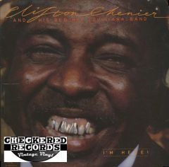 Clifton Chenier And His Red Hot Louisiana Band ‎I'm Here! First Year Pressing 1982 US Alligator Records ‎AL 4729 Vintage Vinyl Record Album