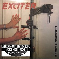 Vintage Exciter Violence & Force First Year Pressing 1984 Canada Banzai Records Ultra Rare Black Label BRC 1903 Vintage Vinyl LP Record Album