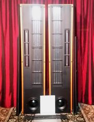 Vintage Eminent Technology LFT 8 VIII Hybrid Linear field Transducer Loudspeaker With Manual Screens & Stands LOCAL PICK UP ONLY