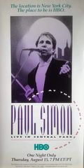 Vintage 1990 Paul Simon Born At The Right Time Tour Live At Central Park HBO Promotional Poster