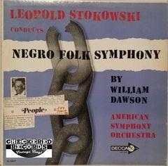 Vintage William Dawson Leopold Stokowski American Symphony Orchestra Negro Folk Symphony First Year Pressing 1959 US Decca DL 10077 Vintage Vinyl LP Record Album