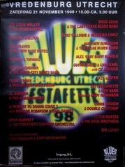Vintage Original 1998 Vredenburg Utrecht Blues Estafette Show Poster Netherlands RARE