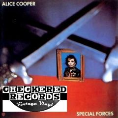 Vintage Alice Cooper Special Forces First Year Pressing 1981 US Warner Bros. Records BSK 3581 Vintage Vinyl LP Record