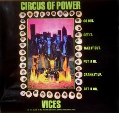 Vintage 1990 Circus Of Power Vices Promotional Poster
