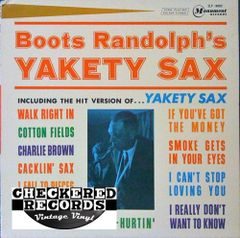 Vintage Boots Randolph Boots Randolph's Yakety Sax First Year Pressing 1963 US Monument SLP-18002 Vintage Vinyl LP Record Album