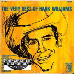 Vintage Hank Williams The Very Best Of Hank William 1965 US MGM Records ST-90511 SE-4168 Vintage Vinyl LP Record Album