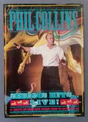 """Vintage 1990 Phil Collins Serious Hits Live Promotional Record Store Poster 33"""" X 23.5"""""""