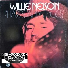 Vintage Willie Nelson Phases And Stages First Year Pressing 1974 US Atlantic SD 7291 Vintage Vinyl LP Record Album