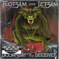 Vintage Flotsam And Jetsam Doomsday For The Deceiver With Liner Notes First Year Pressing 1986 US Restless Records 72130-1 Metal Blade Records MBR1063 Vintage Vinyl LP Record Album