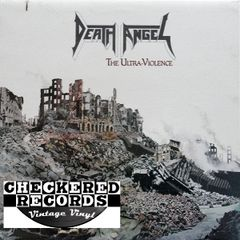 Vintage Death Angel The Ultra-Violence With Liner Notes First Year Pressing Enigma Records ST-73253 US 1987 Vintage Vinyl LP Record Album