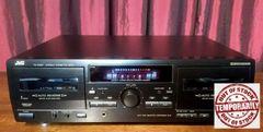Vintage JVC TD-W254 HX Pro Dolby Double Cassette Tape Deck Tested