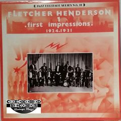 Vintage Fletcher Henderson ‎First Impressions (1924-1931) Jazz Heritage Series Vol. 11 1980 US MCA Records MCA-1310 Vintage Vinyl LP Record Album