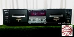 Vintage 2001 Sony TC-WE475 Stereo Double Dual Cassette Deck With Manual