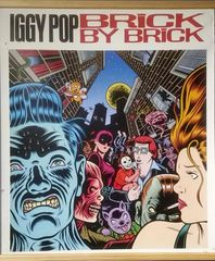 Vintage 1990 Iggy Pop Brick By Brick Double-sided Promotional Poster