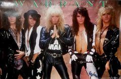 Vintage 1989 Warrant Dirty Rotten Filthy Stinking Rich Poster Neil Zlozower