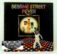 Vintage Sesame Street Records Sesame Street Fever Sesame Street Records CTW 79005 1978 VG+ Vintage Vinyl LP Record Album