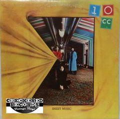 Vintage 10CC Sheet Music First Year Pressing 1974 US UK Records AUKS 53107 Vintage Vinyl LP Record Album