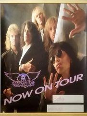 Vintage 1989 Aerosmith Now On Tour Promotional Tour Poster