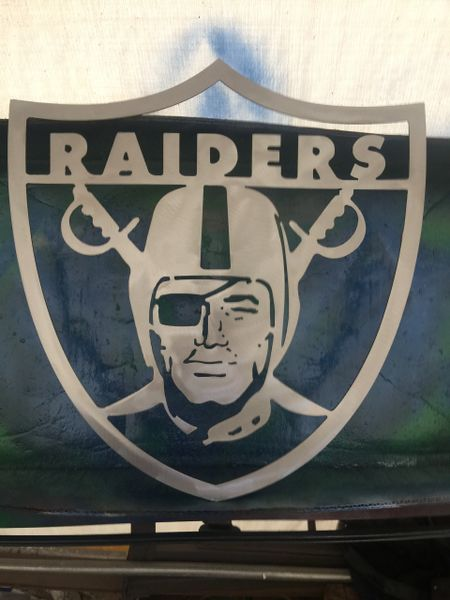 Raidernation Raiders Silverandblack Plasma Craft Art