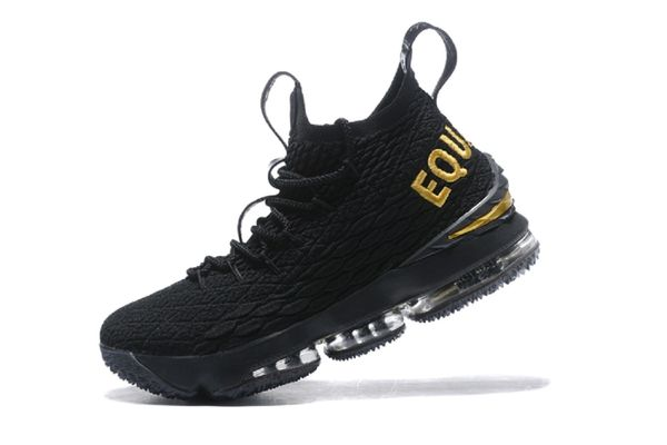 d9cb0e26e6fd3 2018 Lebron James XV Black Gold Quality- Basketball Black 15 Snea ...
