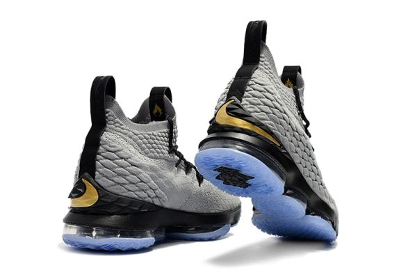 d08a44e8f773 2018 Lebron XV Grey Black   Gold - Lebron James 15 NBA - Basketb ...