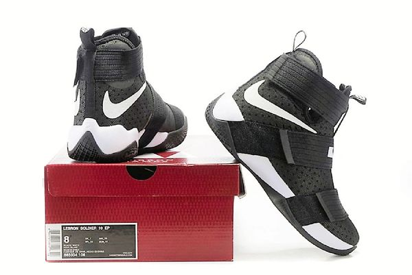 c9a1adafce3a coupon 2017 lebron james soldier 10 nba men basketball black white athletic  sneakers. f316f 550d0