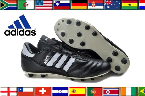 Black Original Adidas Copa Mundial Leather FG West Germany Cleats ... 2be07a3a8