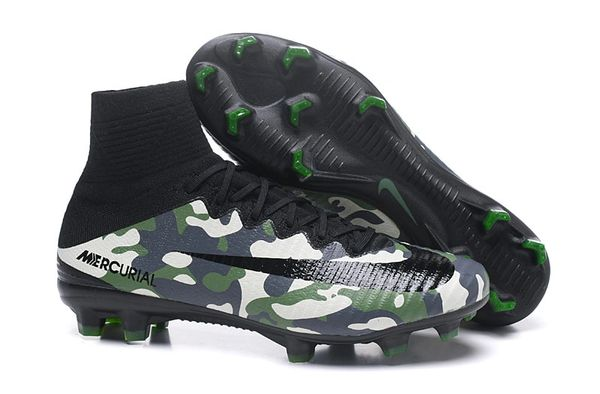 018f76f9ea7f6 Camouflage Green Mercurial X Superfly IV Camo High Top Football Soccer  Boots Cleats.