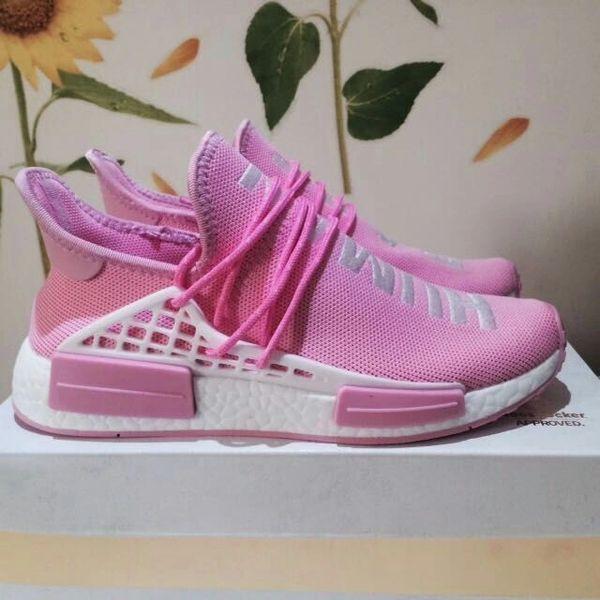 d7af9ebc79426 Adidas X Pharrell Williams NMD HU Human Race new PINK Athlete Running  Sneakers