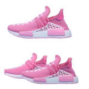 55089f3c88567 Adidas X Pharrell Williams NMD HU Human Race new PINK Athlete Running  Sneakers.