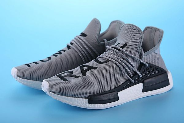 1d9f5c85c99b2 Adidas X Pharrell Williams NMD HU Human Race new Gray Athlete Run ...