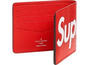 8226b4035d 2018 Louis Vuitton x Supreme Slender Wallet Epi Red With Bag Box ...