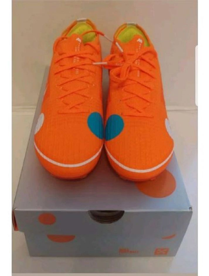 Nike Magic Orange Low Mercurial Vapor 12 Elite SE FG X 360 New SOCCER Cleats