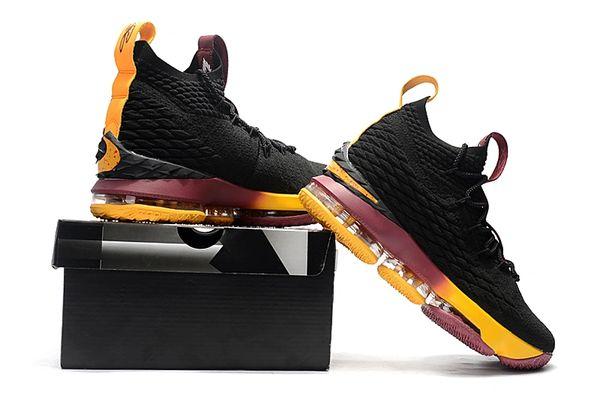 209607bd24738 Lebron XV Black Yellow Purple - Lebron James 15 NBA - Basketbal ...