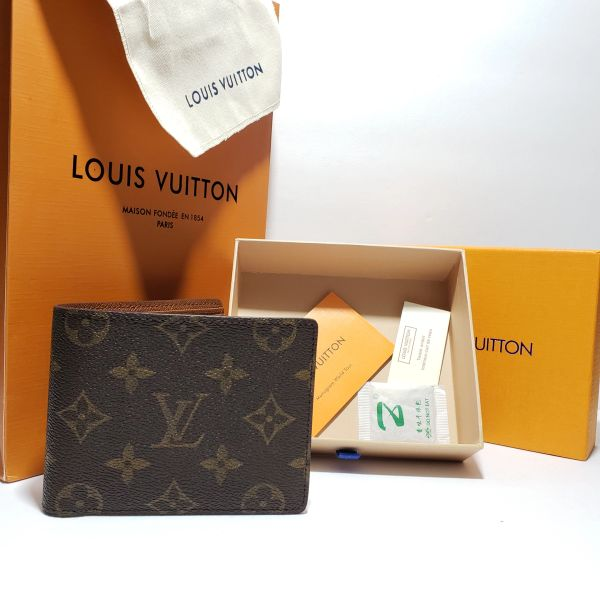 5399cac12da New Louis Vuitton Multiple Wallet Monogram Brown With Bag/Box/Book & gift  Bag