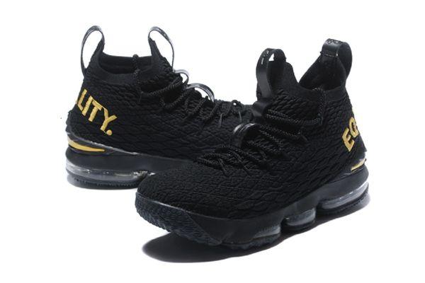 online store d7b8e 4d6d1 2018 Lebron James XV Black Gold Quality- Basketball Black 15 Sneakers