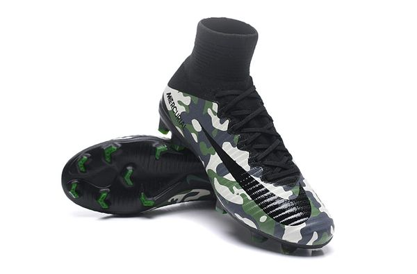 942e5c29f622e Camouflage Green Mercurial X Superfly IV Camo High Top Football Soccer  Boots Cleats
