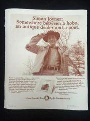 JOYNER, SIMON: Limited Screen Printed Ad Poster