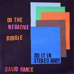 NANCE, DAVID: Negative Boogie CD