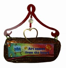 Art Comes From The Heart Mini Plaque (Easel)