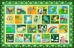 St. Patrick's Day Alphabet Placemat
