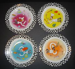 Bistro Salad/Dessert Plates - Set of 4