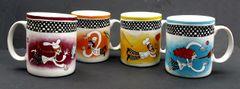 Bistro Mugs - Set of 4