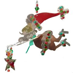 Santa Claus Fanciful Flight Au Naturel
