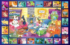 Cat & Dog Alphabet Placemat- Hebrew
